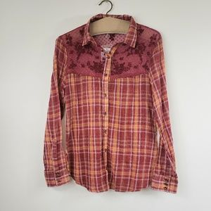 Free people Saddle up fall button down flannel